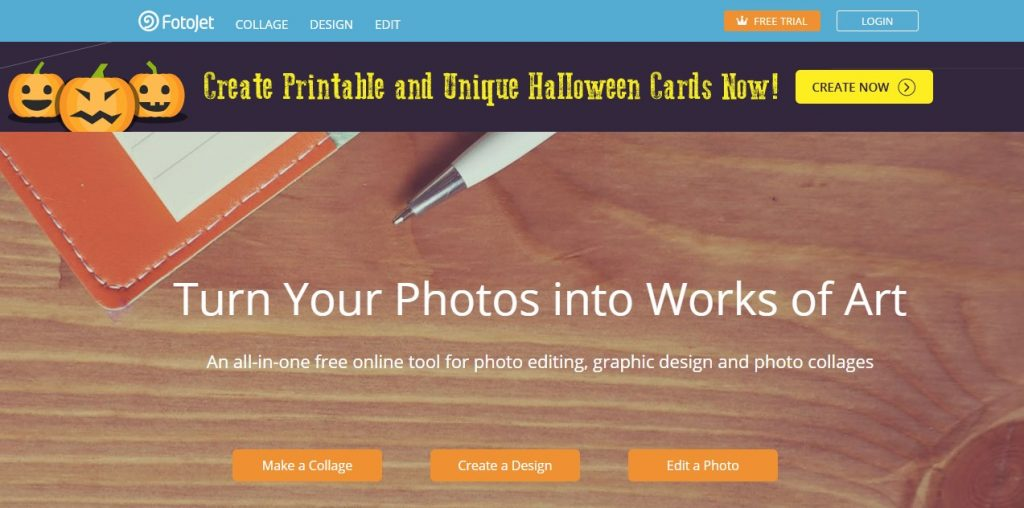 FotoJet graphic design tool