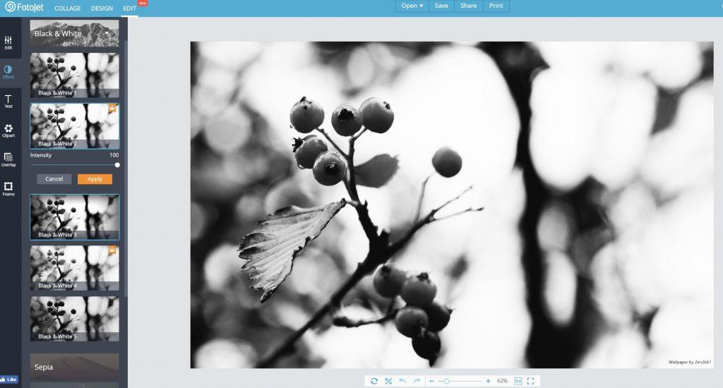 FotoJet photo editor