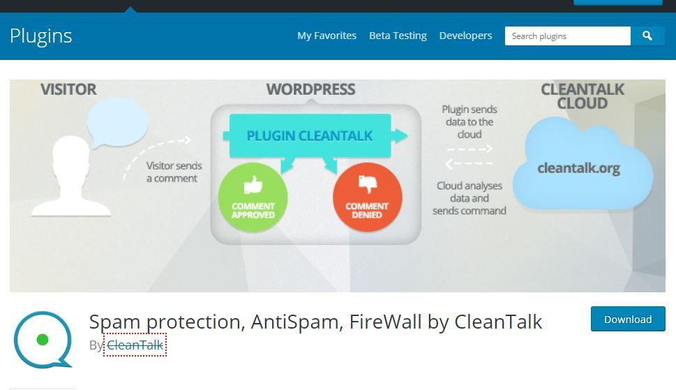 reduce spam with CleanTalk plugin